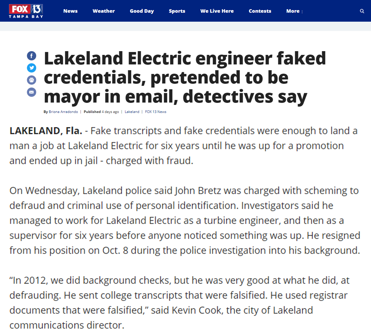 article about fake engineer