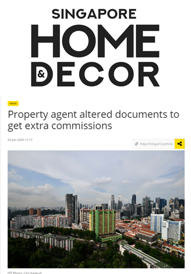 article about property agent fraud